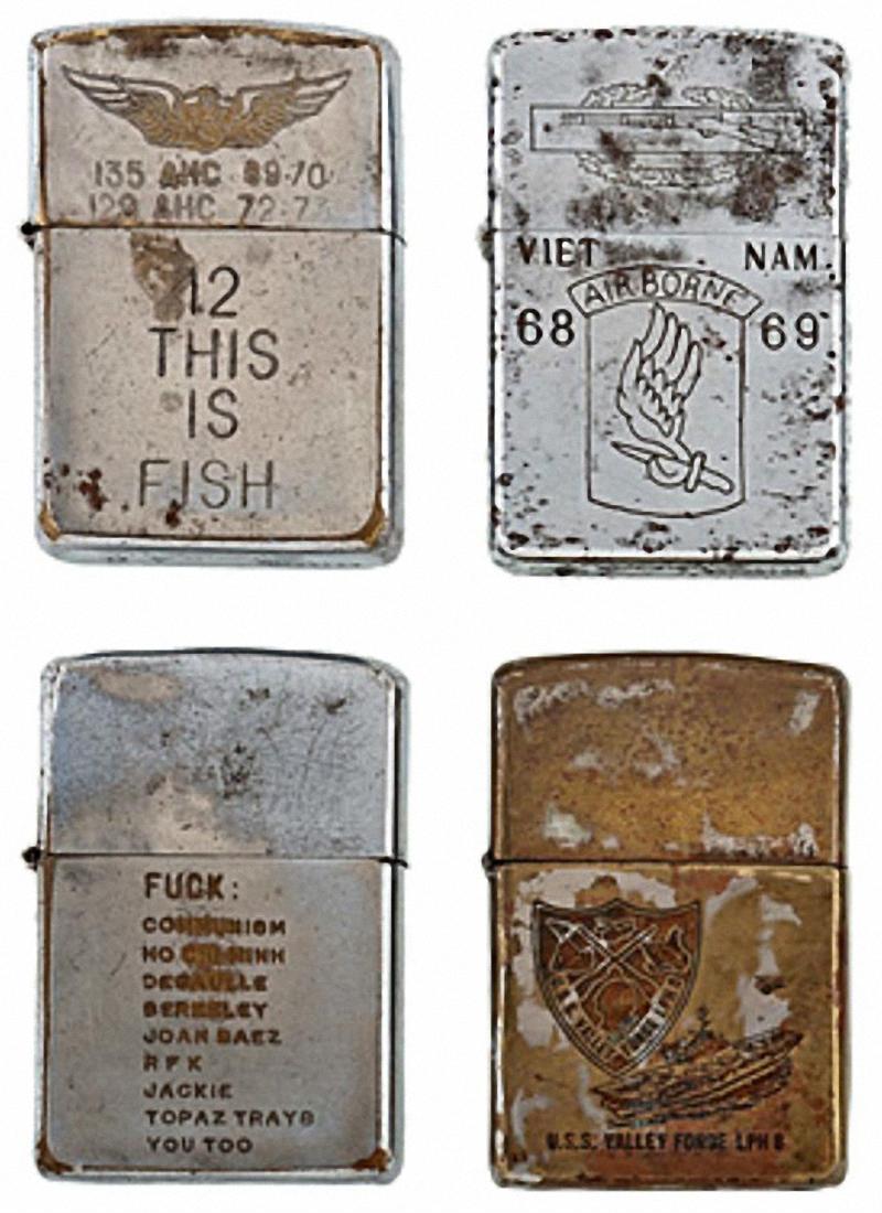 Коллекция солдатских зажигалок Zippo (12)