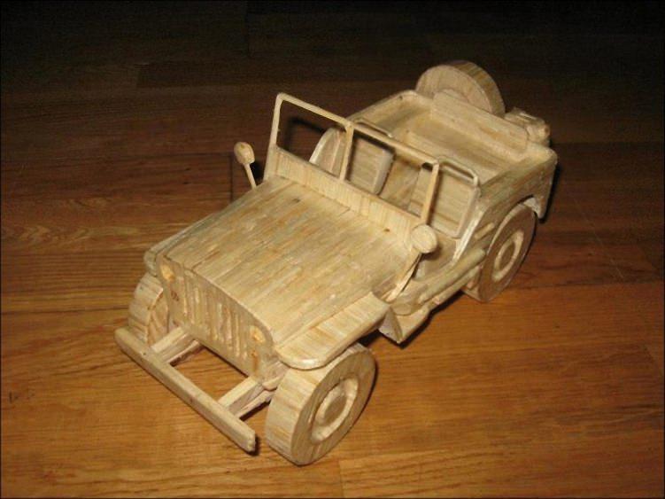 Машины из спичек (8)