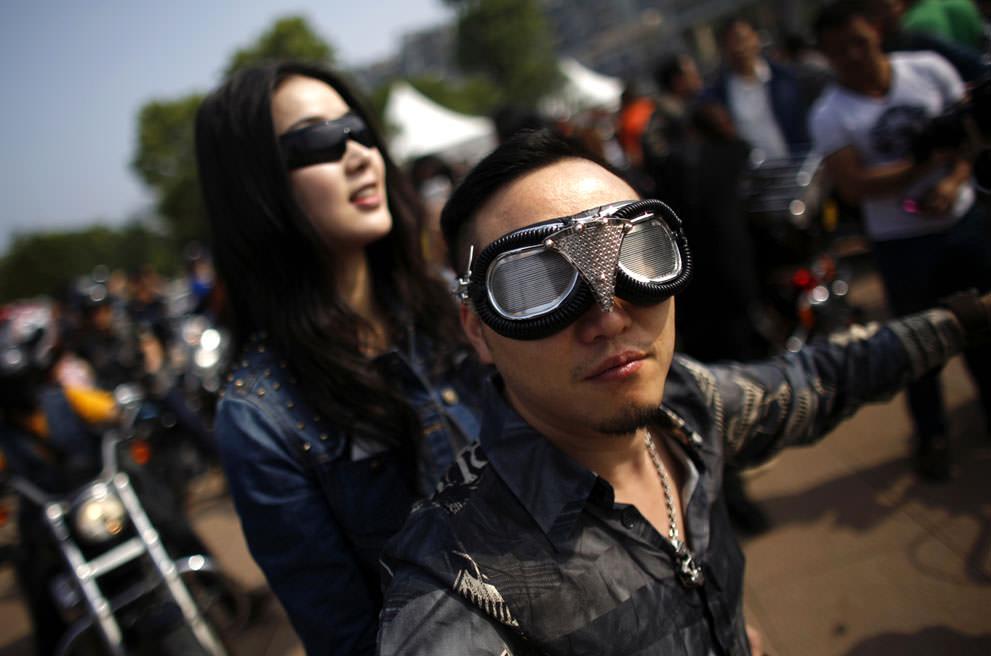 Байкеры в Китае (5)