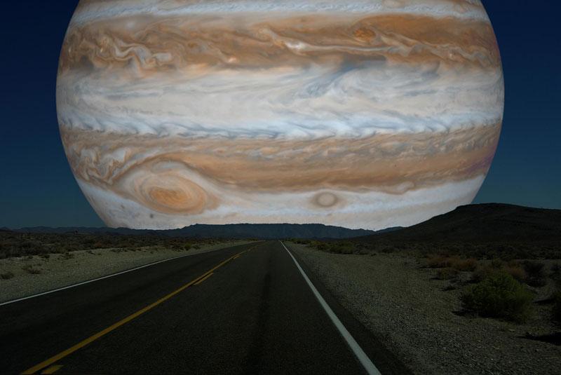 Планеты Солнечной системы на горизонте Земли (7)