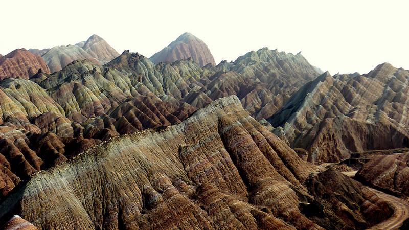 Красные скалы Чжанъе Данксиа (10)