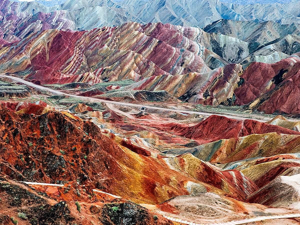 Красные скалы Чжанъе Данксиа (14)