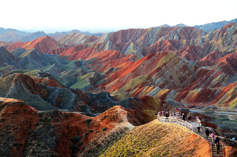 Красные скалы Чжанъе Данксиа (2)