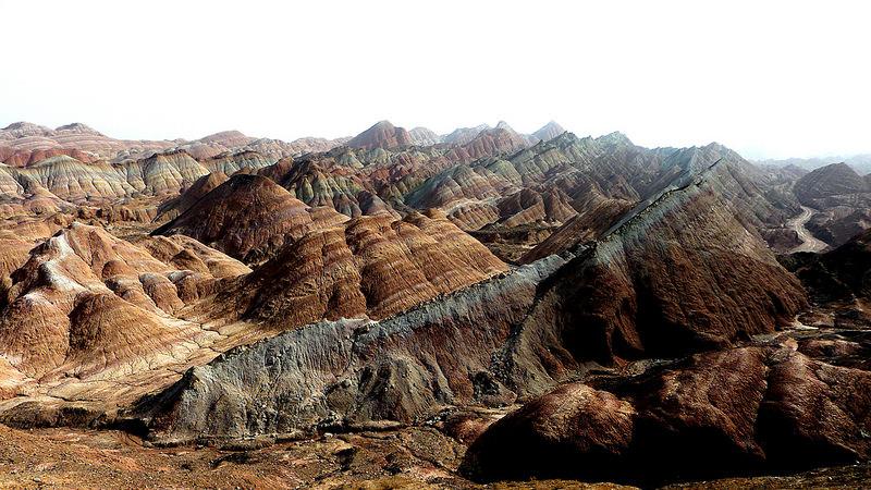 Красные скалы Чжанъе Данксиа (8)