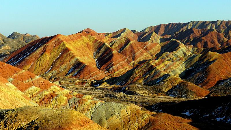 Красные скалы Чжанъе Данксиа (9)