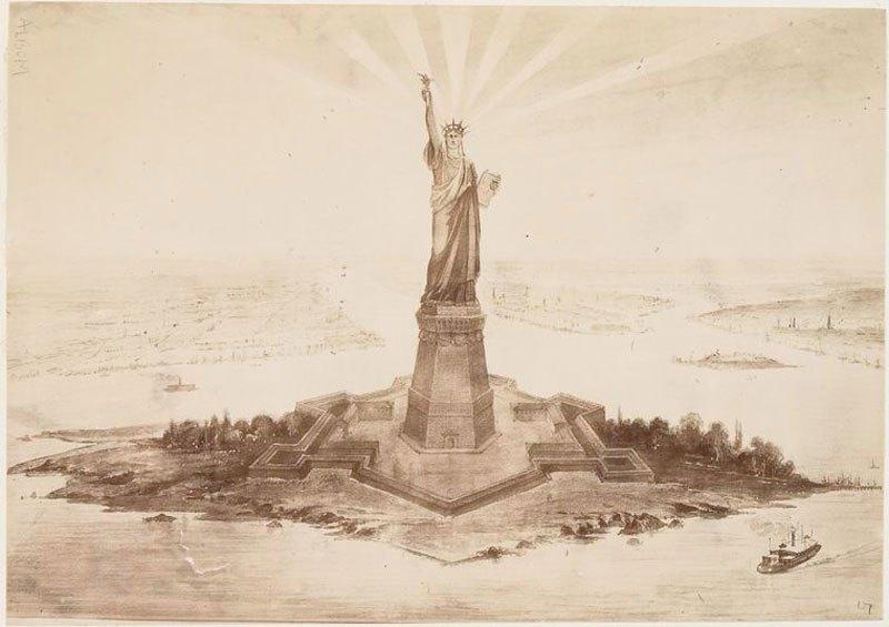 Редкие фотографии Статуи Свободы (1)