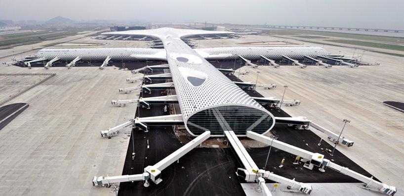 Удивительный терминал международного аэропорта Шэньчжэнь (25)